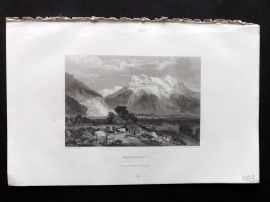 Finden works of Byron C1835 Antique Print. Grindelwald, Switzerland